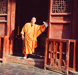 Shifu returning to Shaolin in 2000.