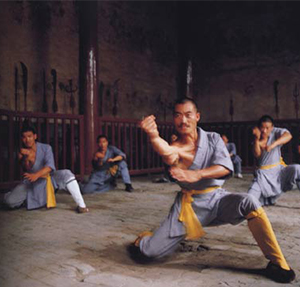 Shifu pictured training in one of the first internationally published books.